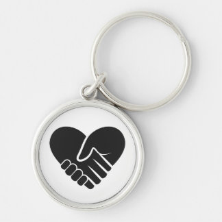 Love Connected black Keychain