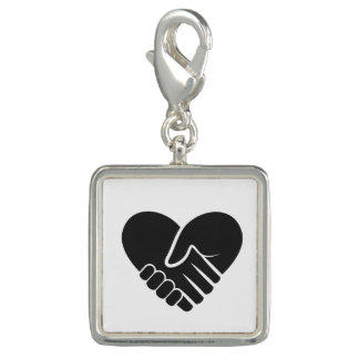 Love Connected black Photo Charms