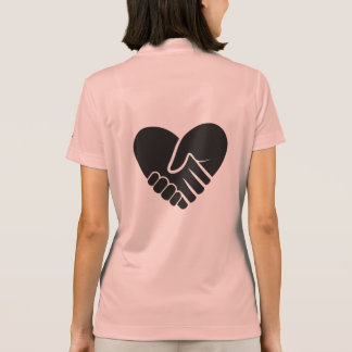 Love Connected black Polo Shirt