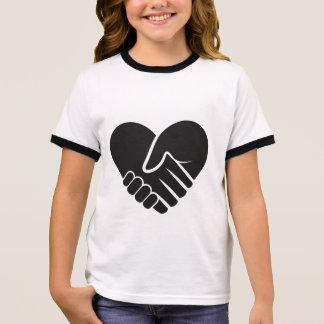 Love Connected black Ringer T-Shirt