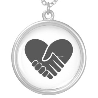 Love Connected black Silver Plated Necklace
