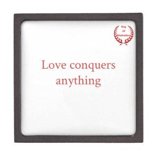Love conquer all premium keepsake box