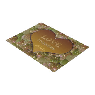 Love Conquers All Gold Flora Doormat