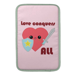 Love Conquers All Kawaii Heart Macbook Air sleeve