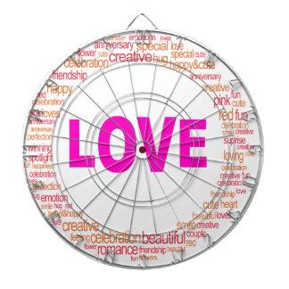 love cool circle design dartboard
