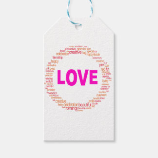 love cool circle design pack of gift tags
