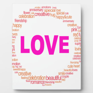 love cool circle design plaque