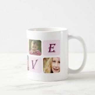 Love Coolest Mom Ever Custom Photo Collage Coffee Mug