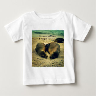 Love couple quote sea lions on the beach baby T-Shirt