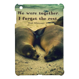 Love couple quote sea lions on the beach case for the iPad mini