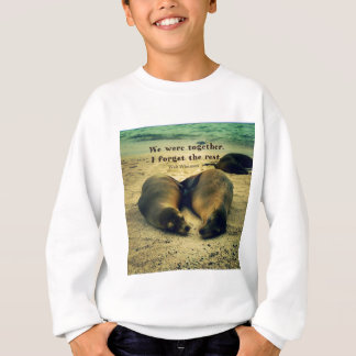 Love couple quote sea lions on the beach sweatshirt