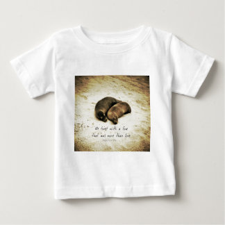 Love couple romantic quote sea lions on the beach baby T-Shirt