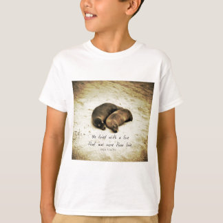 Love couple romantic quote sea lions on the beach T-Shirt