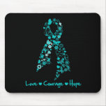 Love Courage Hope Butterfly - Ovarian Cancer Mousepads