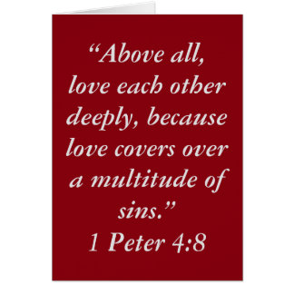 """""""Love Covers"""" Scripture Greeting Card"""