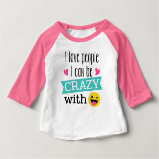 Love Crazy People Emoji Baby T-Shirt