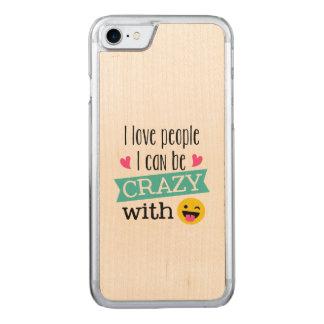 Love Crazy People Emoji Carved iPhone 8/7 Case