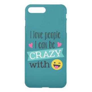 Love Crazy People Emoji iPhone 8 Plus/7 Plus Case
