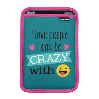 Love Crazy People Emoji Sleeve For iPad Mini
