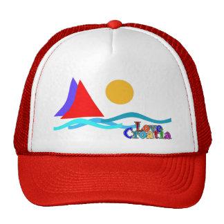 love Croatia colourful le cap Casquette De Camionneur