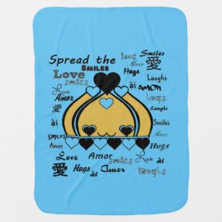 Love Crowns Message Stroller Blankets