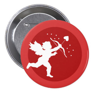 Love Cupid Illustration 3 Inch Round Button