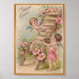 Love cupid vintage poster