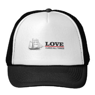 love cures all things trucker hat