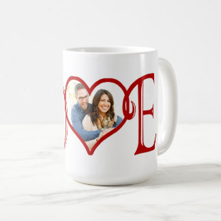 LOVE custom Heart photo Coffee Mug