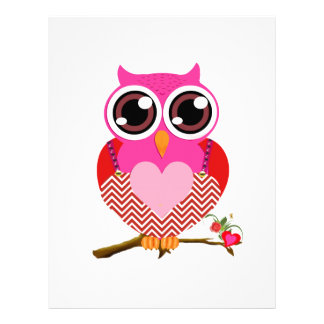 Love Cute Owls & Hearts Gifts Letterhead Design
