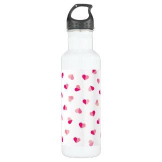 Love Cute Pink Heart Pattern 710 Ml Water Bottle