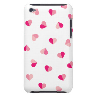 Love Cute Pink Heart Pattern Barely There iPod Case