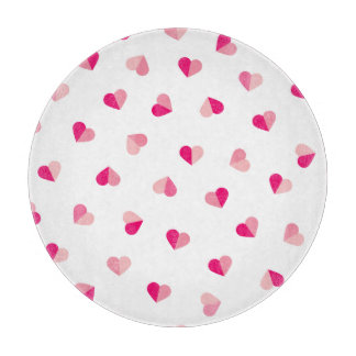 Love Cute Pink Heart Pattern Cutting Board