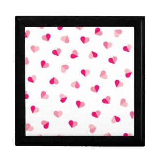 Love Cute Pink Heart Pattern Gift Box