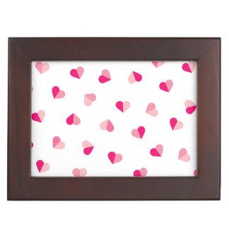 Love Cute Pink Heart Pattern Keepsake Box