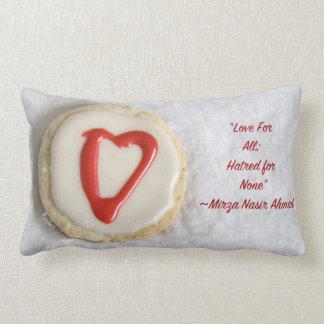 """""""Love"""" Cutout Cookie jjhelene design Lumbar Pillow"""