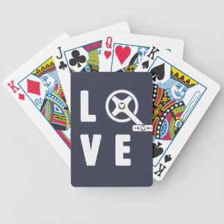 Love cycling bicycle playing cards