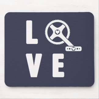 Love cycling mouse pad