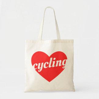 Love Cycling Tote Bag. Bicycle Cycling Bike Bag