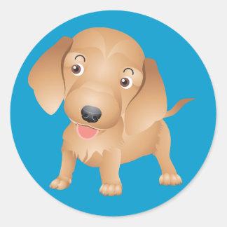 Love Dachshund Puppy Dog Sticker Seal