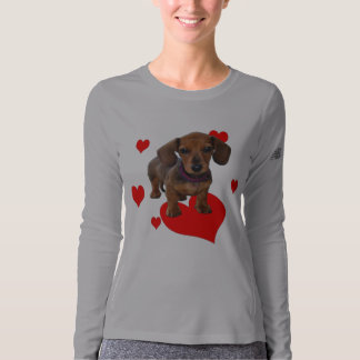 Love Dachshunds (Puppy and Hearts) T-shirt