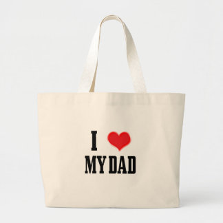 love dad large tote bag