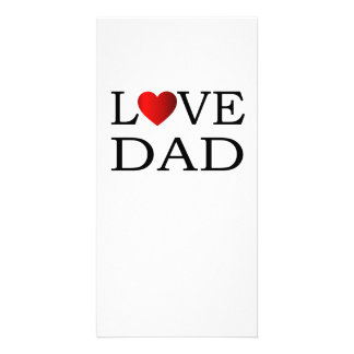 Love dad picture card