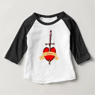 love dagger pierced heart baby T-Shirt