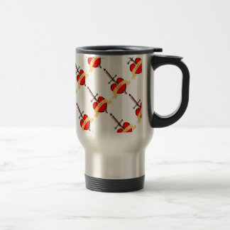love dagger pierced heart travel mug