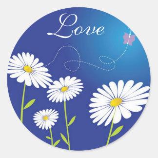 Love Daisies Flower Garden Butterfly Stickers