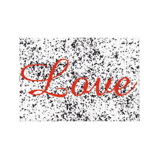 Love Dalmatian Print Canvas