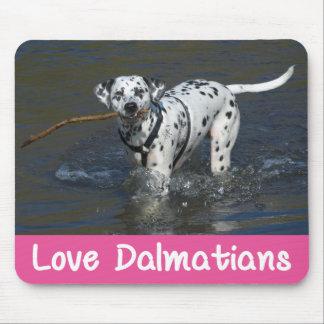 Love Dalmatian Puppy Dog Mousepad