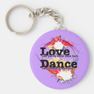 Love, Dance, Live Basic Round Button Keychain