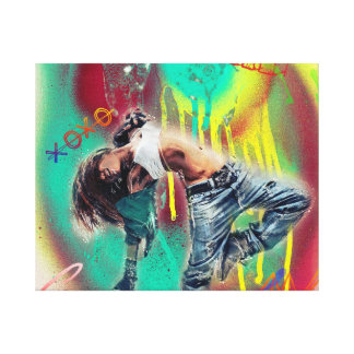 Love Dance Music Baby Canvas Art